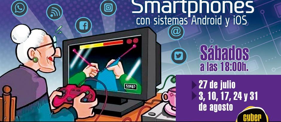 """Talleres abiertos para aprendizaje de """"Smartphone""""(teléfono táctil) para personas con más de 60 añós"""