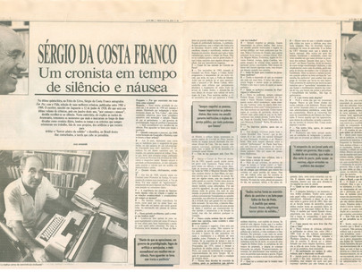 """""""Sérgio da Costa Franco - Um cronista em tempo de silêncio e náusea"""""""