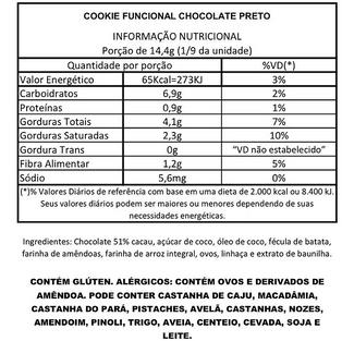 Cookie Funcional Chocolate Preto
