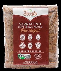 Pão Integral Serraceno com Chia e Nozes - Secale
