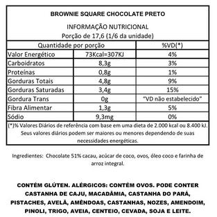 Brownie Square Chocolate Preto