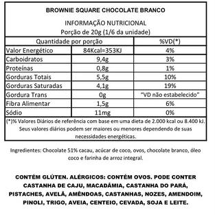 Brownie Square Chocolate Branco