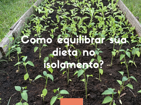 Como equilibrar sua dieta no isolamento?