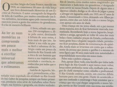 Sérgio, oitenta - Luiz Fernando Cirne Lima