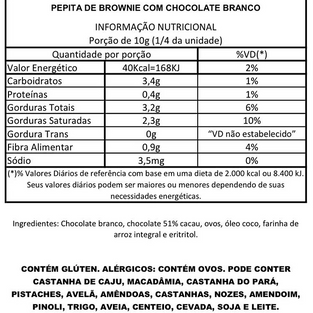 Pepita de Brownie com Chocolate Branco