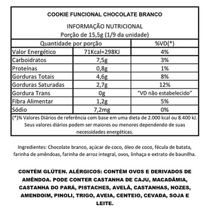 Cookie Chocolate Branco