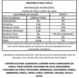 Brownie in Box Avelã