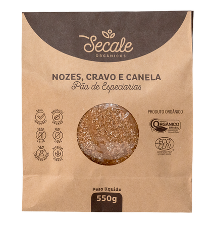 Pão de Especiarias Nozes, Cravo e Canela - Secale