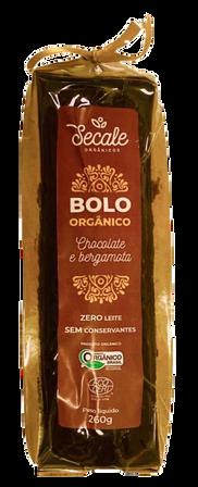Bolo Orgânico Chocolate e Bergamota - Secale