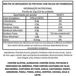 Mini Pie de Brigadeiro de Pistache com Geléia de Framboesa
