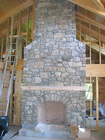 Masonry-Stone Fireplace FINISHED