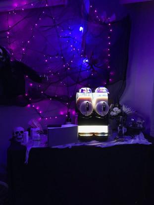 Our margarita machine lights up at night!