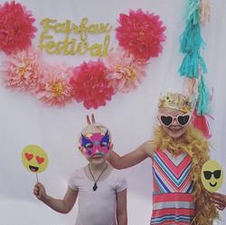 Photobooth set up at the Fairfax Festival