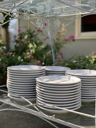 Cake plates.