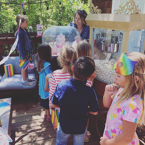 Rainbow birthday party in Mill Valley.