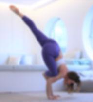 yoga arm balance galavasna