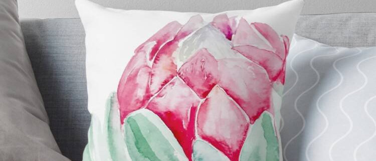 Watercolour Cushion