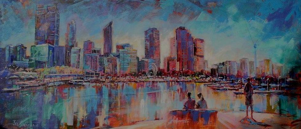 Elizabeth Quay - Original canvas painting