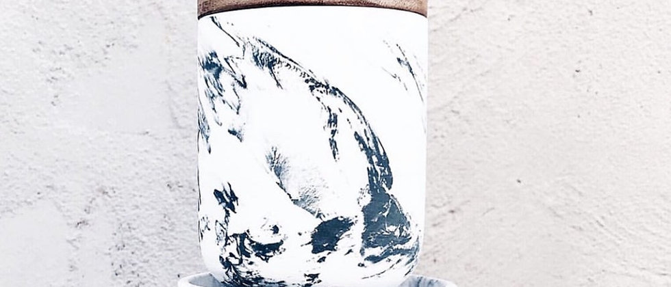 Scandi Marble Grey Soy Candle