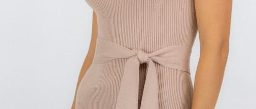 Knitted Midi Wrap Dress