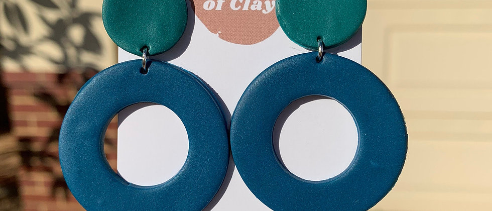 Dangles in Teal and Peacock Blue