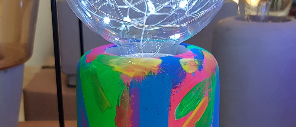 Neon Concrete Acrylic Lamp