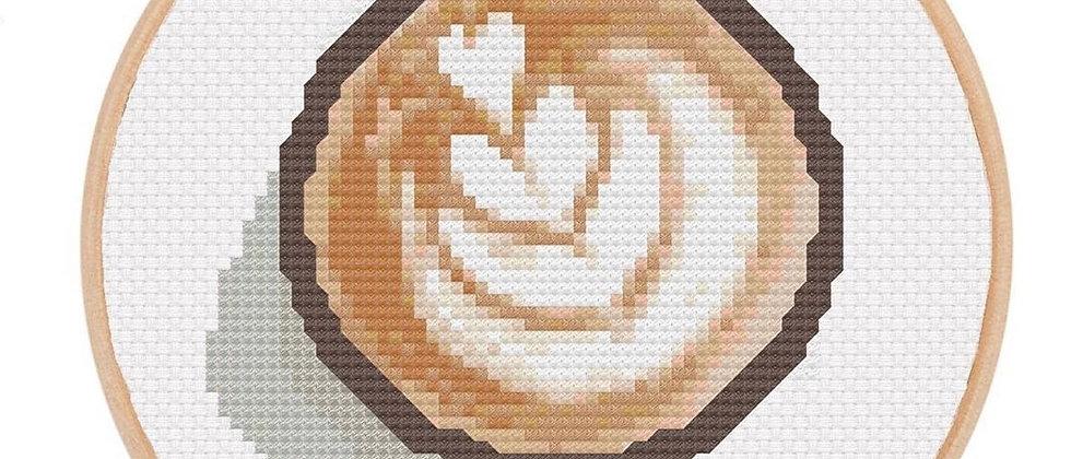 LatteCross Stitch Kit