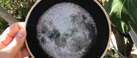 Moon Cross stitch kit