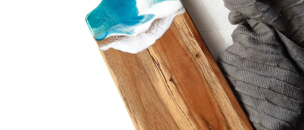 Resin art raised serving board