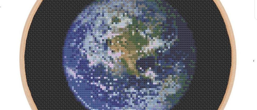 Earth Cross Stitch Kit
