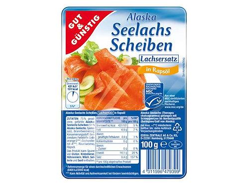 Seelachs in Scheiben (Lachsersatz), 100g