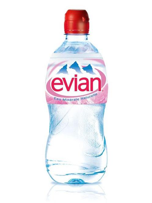 Mineralwasser Evian, 0,75l