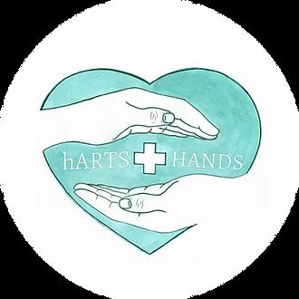 hARTS+hands logo