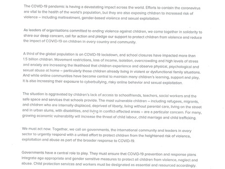 HIDDEN CRISIS of COVID-19 :  Violence against Children