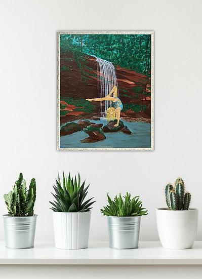 """Waterfallin' Yogi"" - Original Artwork"