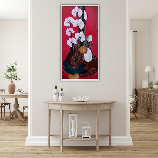 """Musical Orchids"" - Original Artwork"