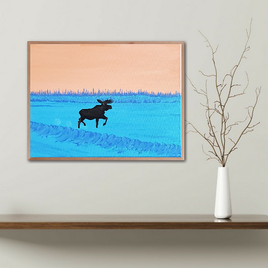 """Moose"" Original Artwork"