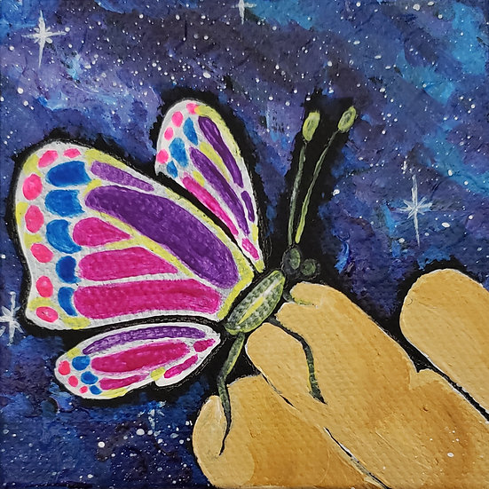 """""""Galactic Butterfly"""" - Magnet"""