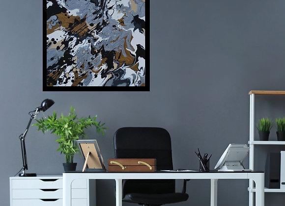 Œuvre originale abstraite La fabuleuse 18x18 Aro Artiste Peintre