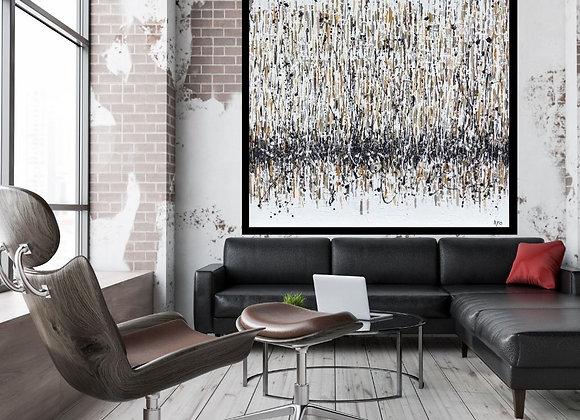 Oeuvre originale abstraite Éternité 60x60 Aro artiste peintre