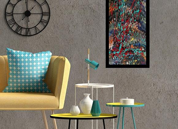 Œuvre originale abstraite Love 15x30 Aro Artiste Peintre