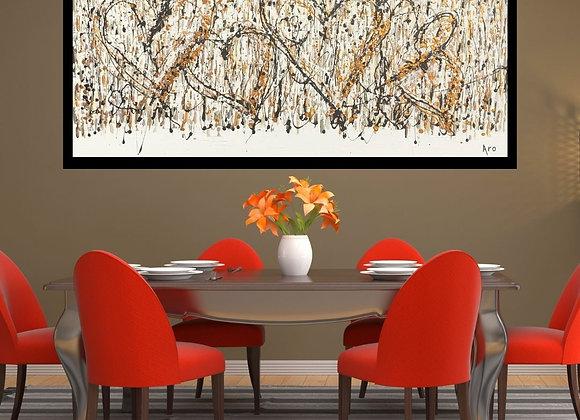 Oeuvre originale abstraite Aimer 60x30 Aro Artiste Peintre