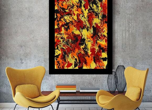 Œuvre originale abstraite Akela 24x36 Aro Artiste Peintre