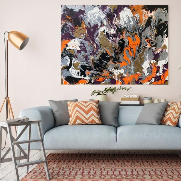 Oeuvre originale d'Aro artiste peintre