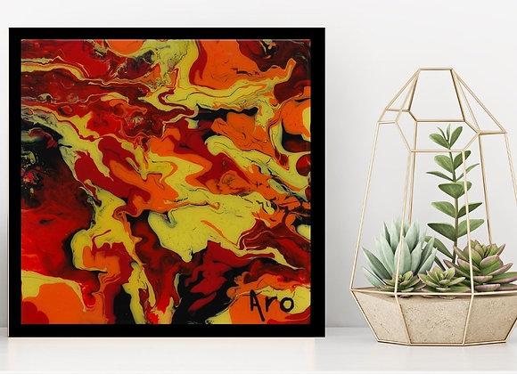 Œuvre originale abstraite Bella 10x10 Aro Artiste Peintre