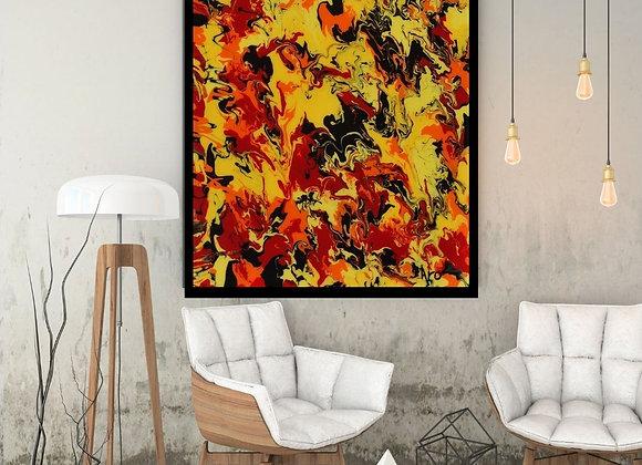 Œuvre originale abstraite Kalia 24x36 Aro Artiste Peintre
