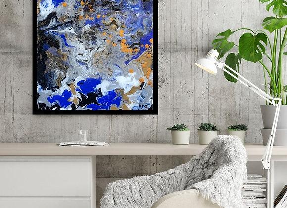Œuvre originale abstraite Garde rapprochée 16x20 Aro Artiste Peintre