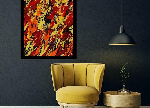 Œuvre originale abstraite Leilani 24x30 Aro Artiste Peintre