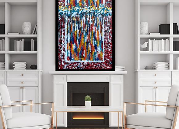 Œuvre originale abstraite Free 24x36 Aro Artiste Peintre