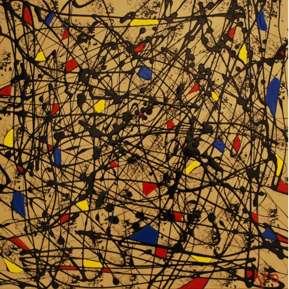 Abstract Art Collection: Urgence de Vivre| Aro Paint Artist, Quebec